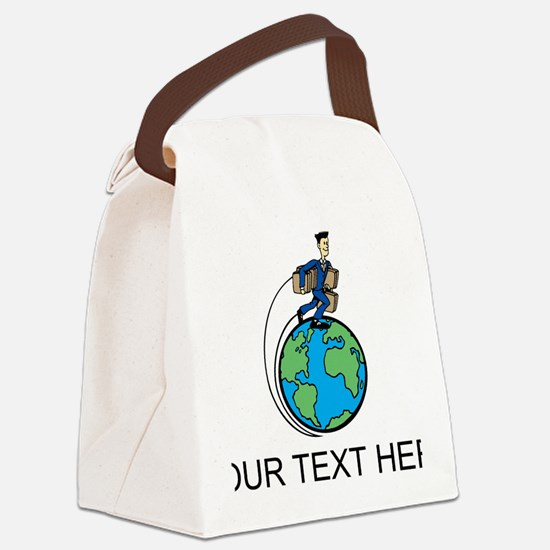 World Travel Canvas Lunch Bag