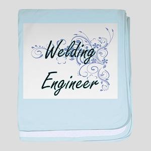 Welding Engineer Artistic Job Design baby blanket