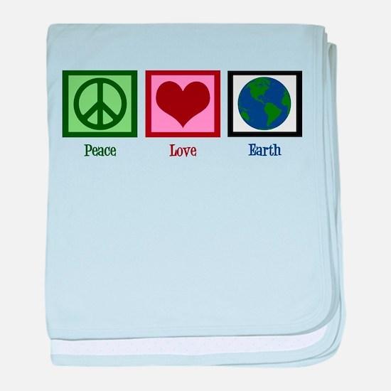 Peace Love Earth baby blanket