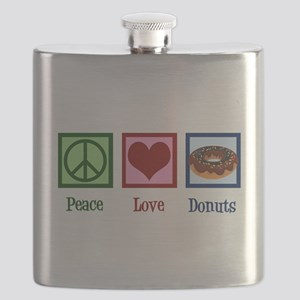Peace Love Donuts Flask