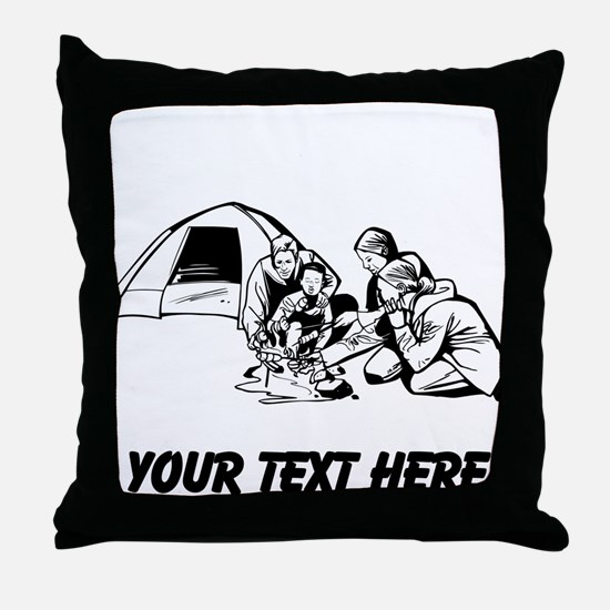 Camping Trip Throw Pillow