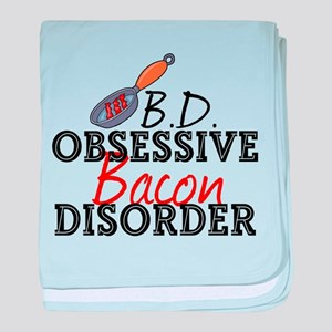 Funny Bacon baby blanket