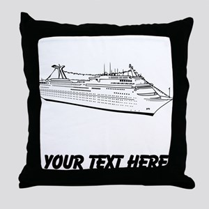 Cruise Ship Throw Pillow