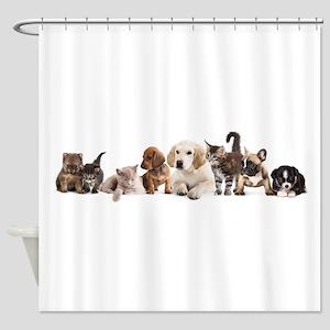 Cute Pet Panorama Shower Curtain