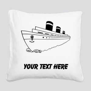 Cruise Ship Square Canvas Pillow