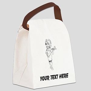 Flight Attendant Canvas Lunch Bag
