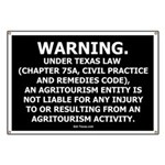 Texas Agritourism Liability Relief Banner
