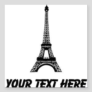 "Eiffel Tower Square Car Magnet 3"" x 3"""