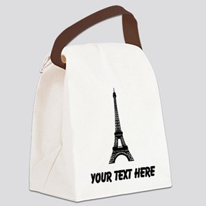 Eiffel Tower Canvas Lunch Bag
