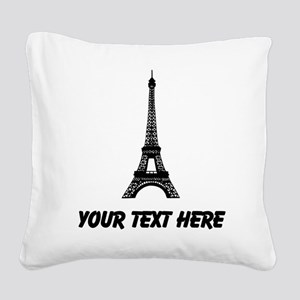 Eiffel Tower Square Canvas Pillow