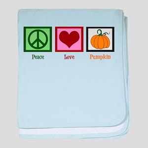 Peace Love Pumpkin baby blanket
