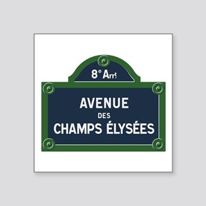 Avenue des Champs Elysees street sign Sticker