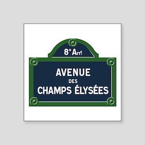 Avenue des Champs Elysees street sign Sticker
