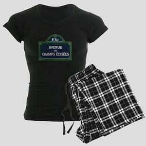 Avenue des Champs Elysees st Women's Dark Pajamas