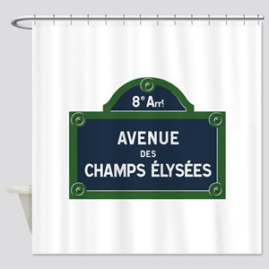 Avenue des Champs Elysees street si Shower Curtain