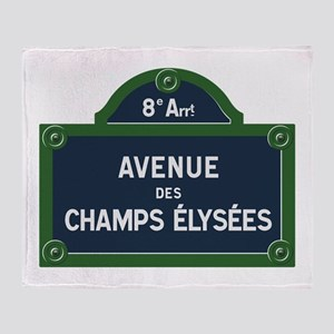 Avenue des Champs Elysees street sig Throw Blanket