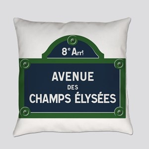 Avenue des Champs Elysees street s Everyday Pillow