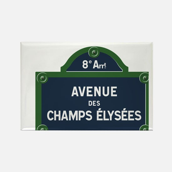 Avenue des Champs Elysees street sign Magnets