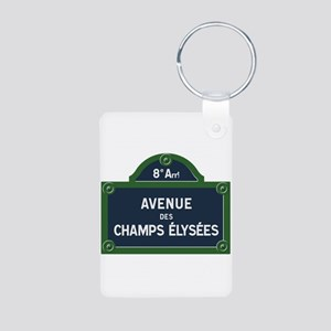 Avenue des Champs Elysees street sign Keychains