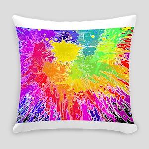 Colourful paint splatter Everyday Pillow