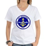 USS Oglethorpe (AKA 100) Women's V-Neck T-Shirt