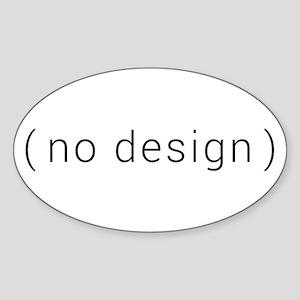 no design (black) Sticker