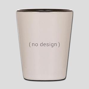 no design (black) Shot Glass