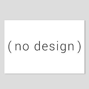 no design (black) Postcards (Package of 8)