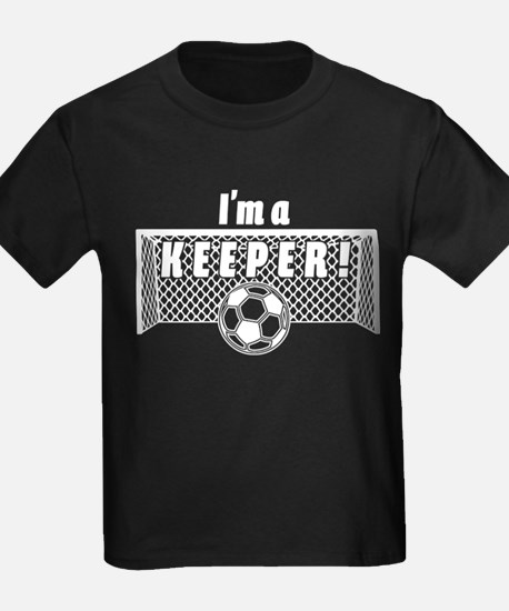 Im a Keeper soccer fancy white T-Shirt