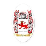 Ogilvy Oval Car Magnet