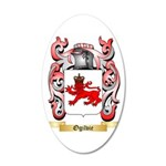 Ogilvie 35x21 Oval Wall Decal