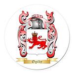 Ogilby Round Car Magnet