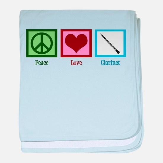 Peace Love Clarinet baby blanket