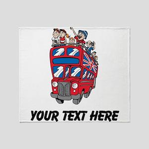 London Tour Bus Throw Blanket