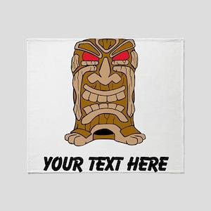 Tiki Idol Throw Blanket