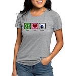 Peace Love Drums Womens Tri-blend T-Shirt
