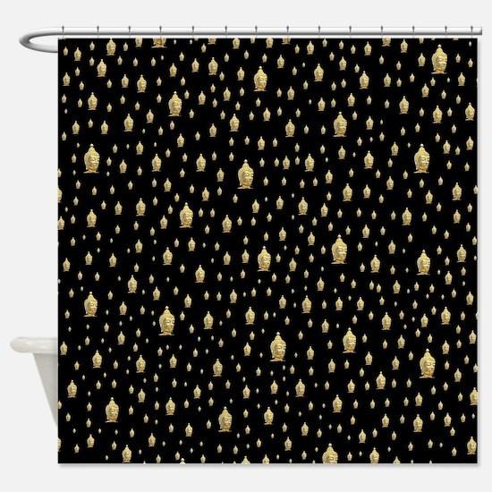 Unique Buddhist Shower Curtain