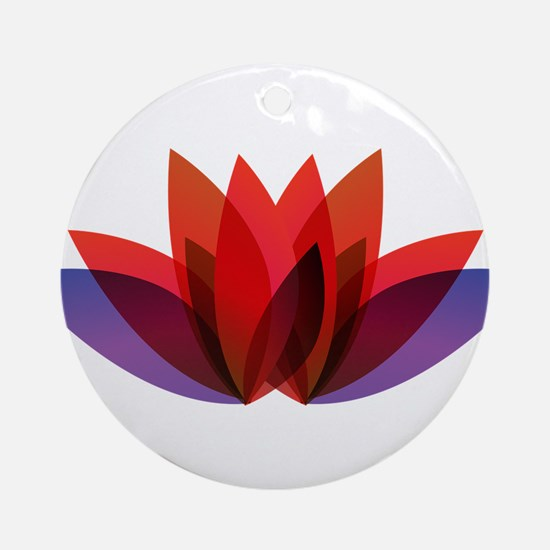 Lotus flower petals Round Ornament