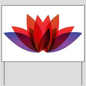 Lotus flower petals Yard Sign