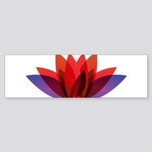 Lotus flower petals Bumper Sticker