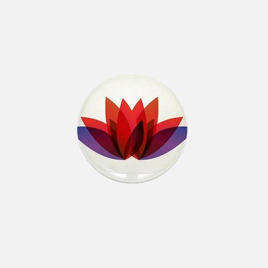 Lotus flower petals Mini Button