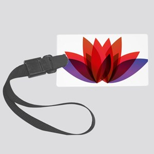 Lotus flower petals Large Luggage Tag