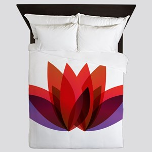 Lotus flower petals Queen Duvet