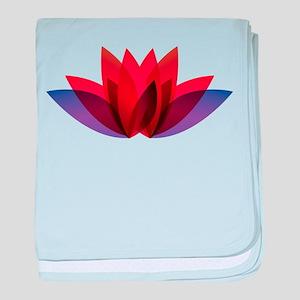 Lotus flower petals baby blanket