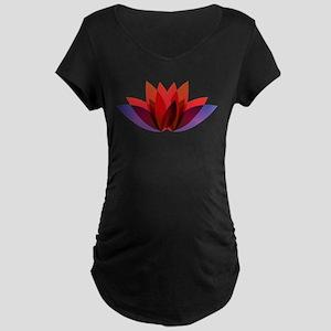 Lotus flower petals Maternity T-Shirt