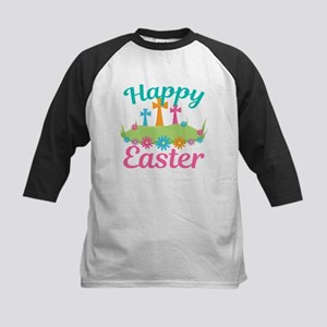 Happy Easter Kids Baseball Tee