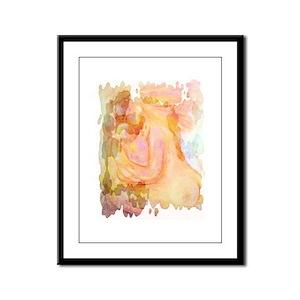 Modern mother & child Framed Panel Print