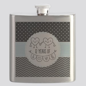 12th Anniversary Gift For Her Flask