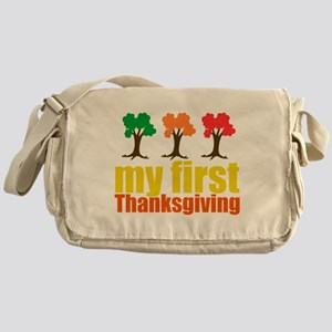 My First Thanksgiving Messenger Bag