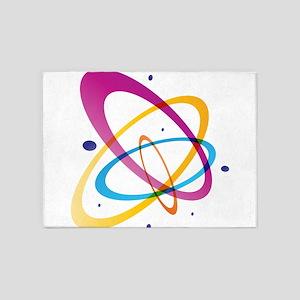 Atom rings mecule psychedelic 5'x7'Area Rug